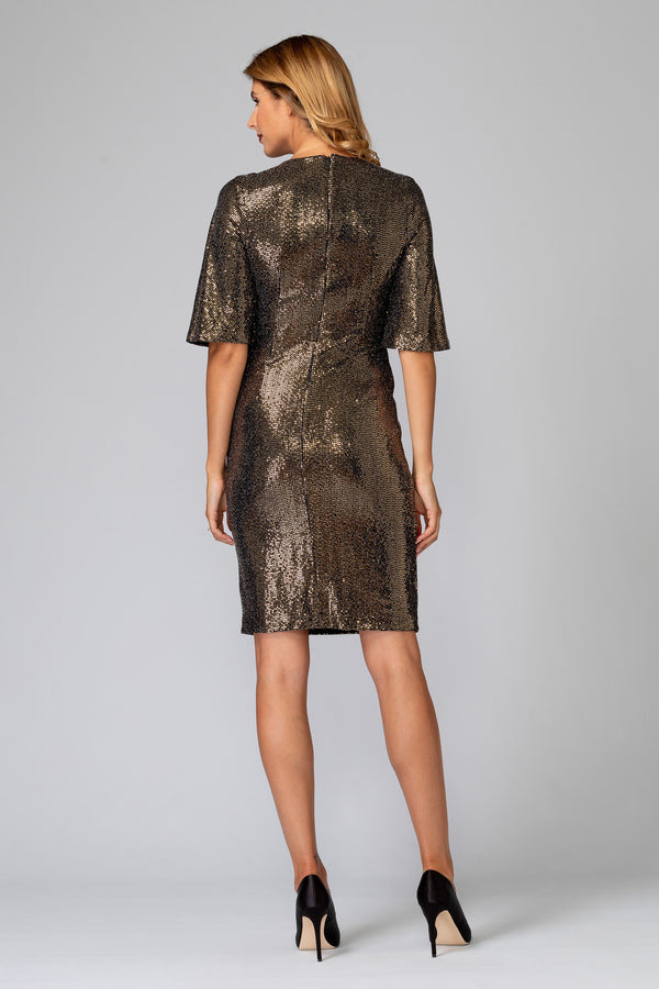 Dress Sequins With bell Sleeves