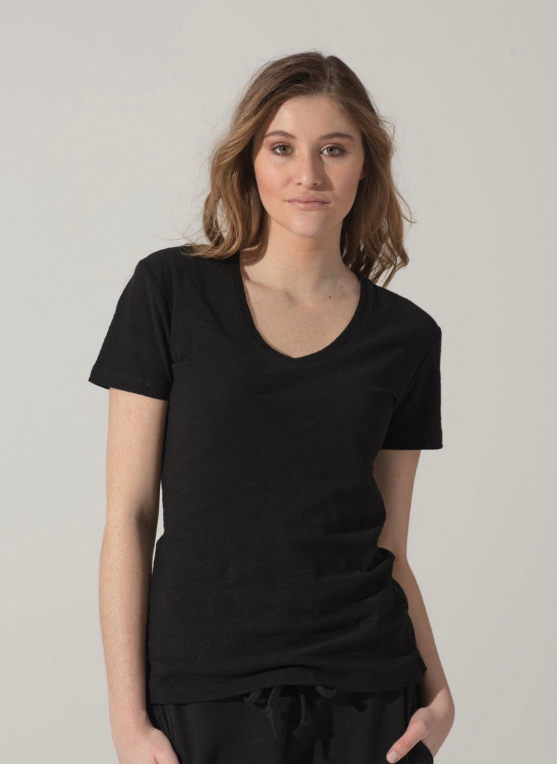 T-shirt V-Neck Short Sleeve