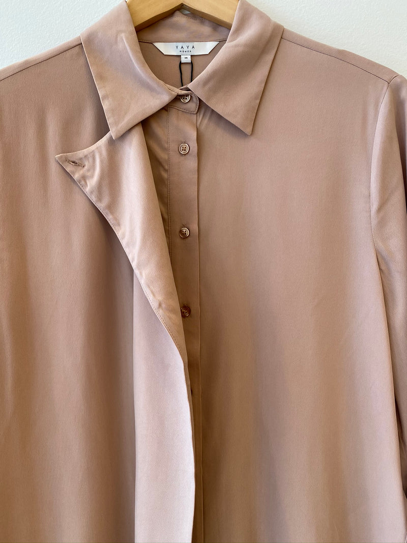 Cupro Blend Shirt With Large Placket