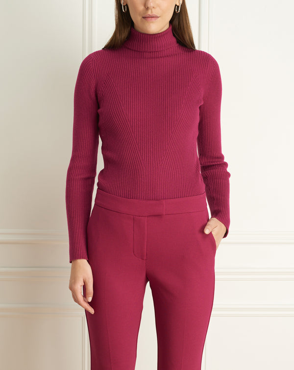 Wool Blend Turtle Neck