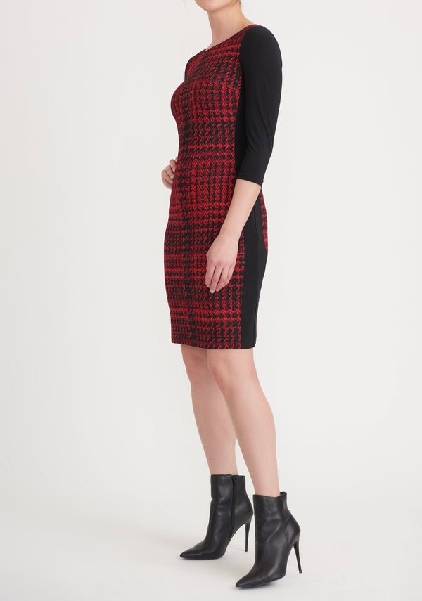 Dress Black/Red Hounds Tooth