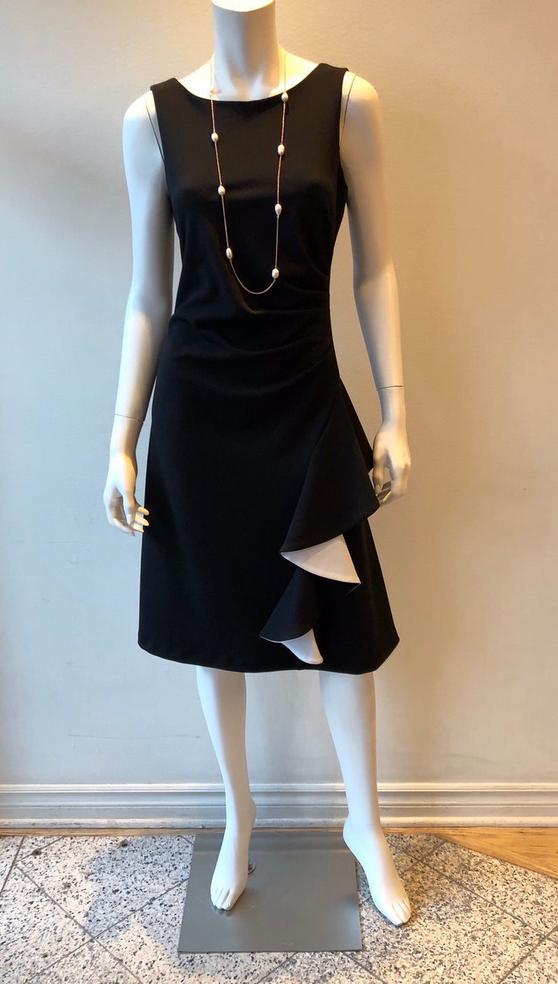 Dress Sleeveless with Front Cascade