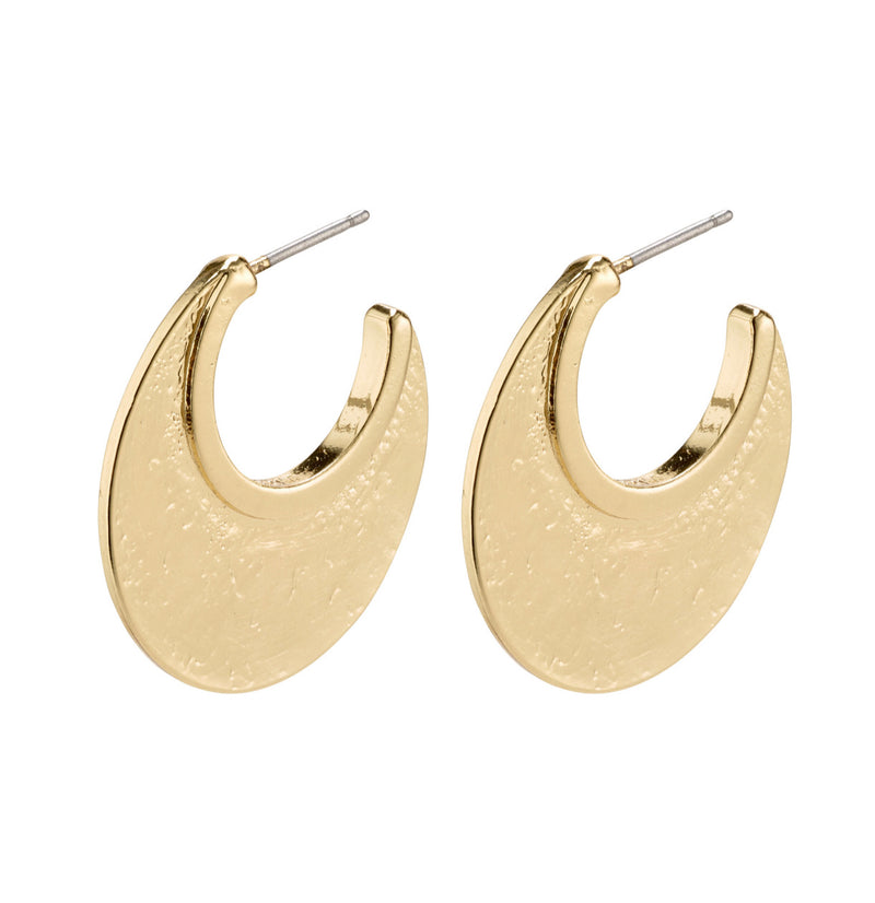 Empathy Hoops Earrings Gold Plated