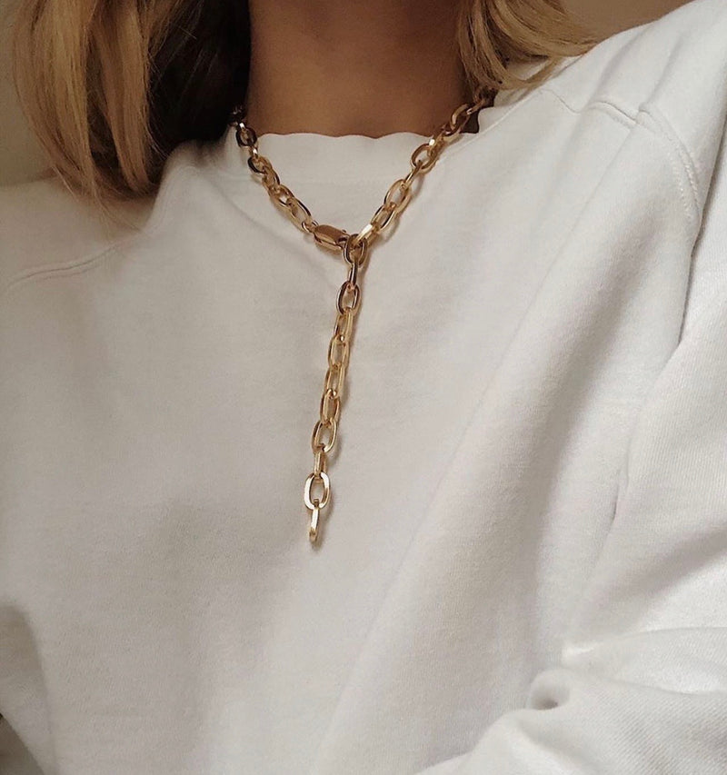Tolerance Chain Necklace Gold 122046011