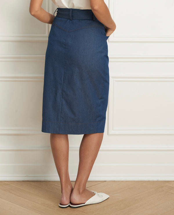 Skirt Knee Length Soft Denim