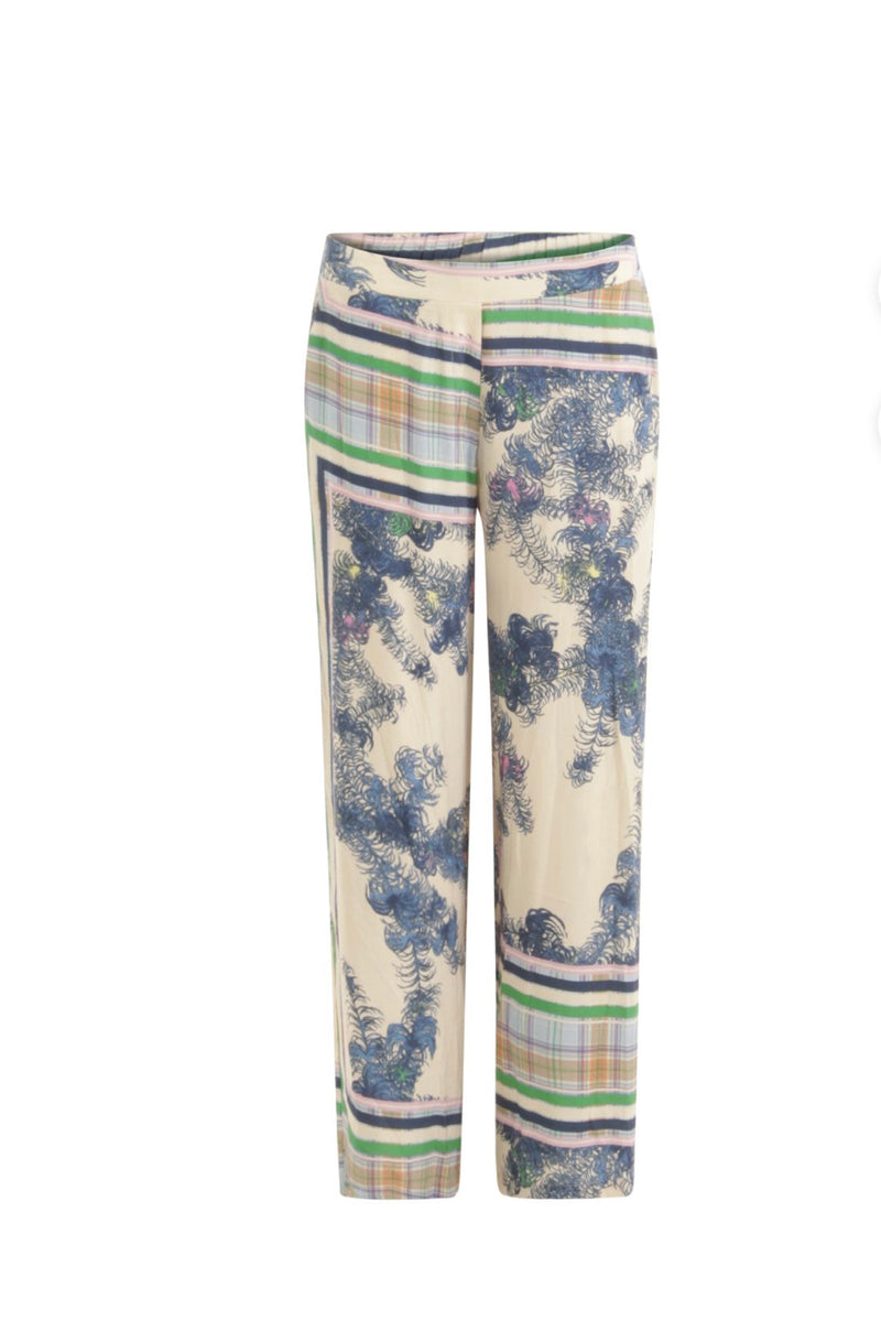 WIDE LEG FLAIR PRINTED PANT