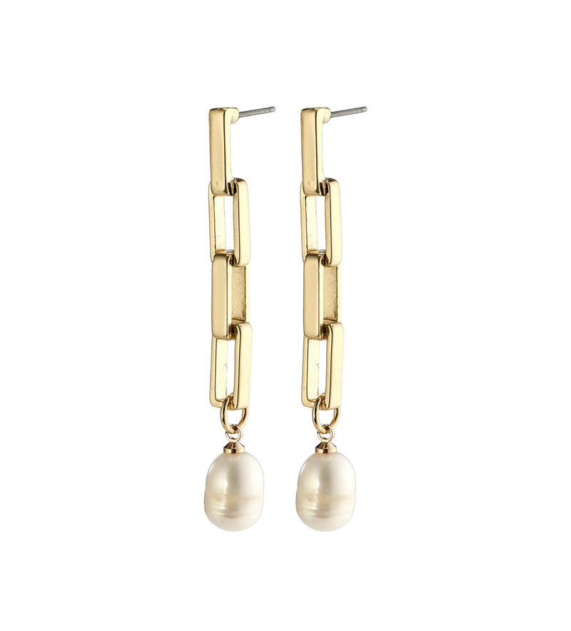 Colomba Gold earring with Fresh Water Pearl