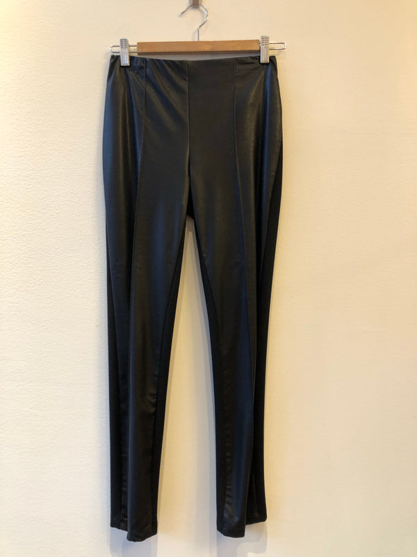 Leggings with Faux Leather Front