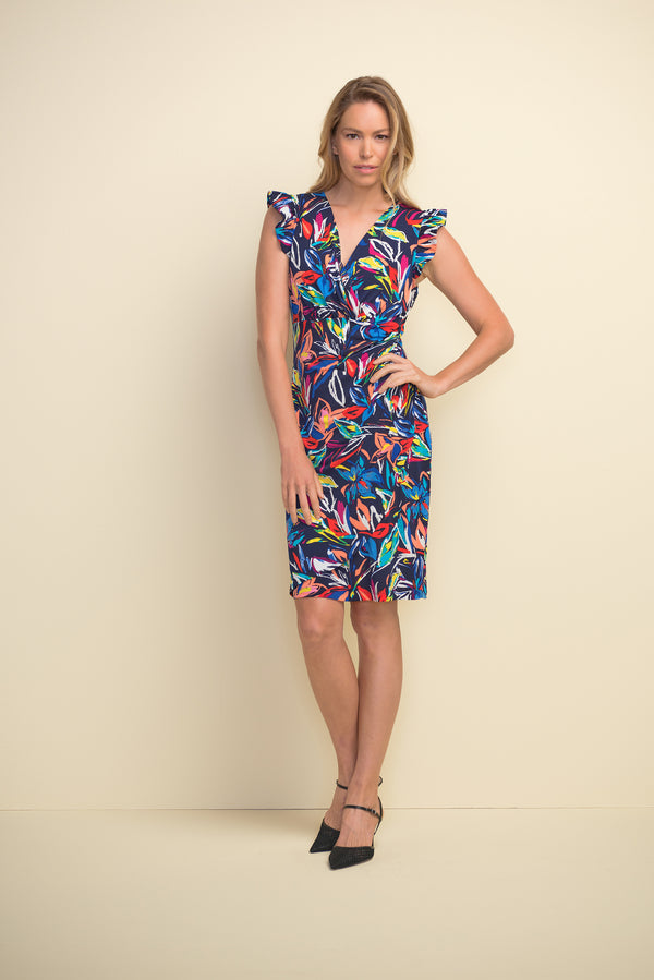 Cap Sleeve Dress Multi Coloured