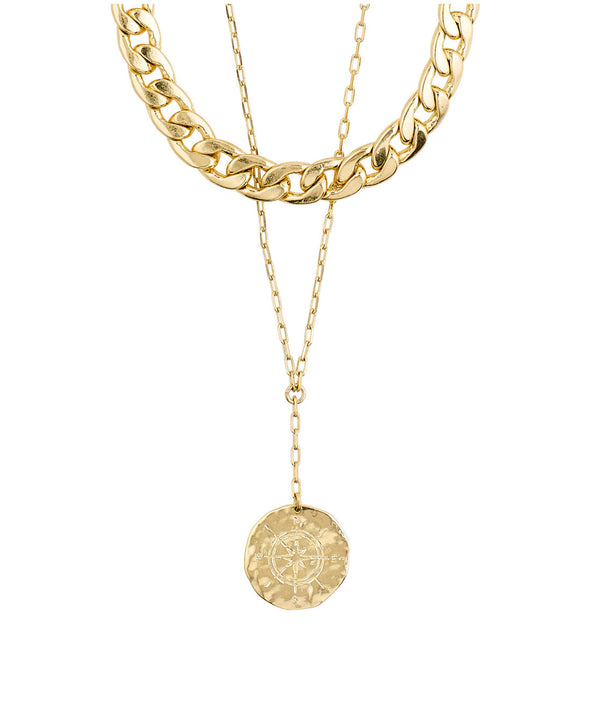 Compass 2 in 1 Necklace Gold or Silver