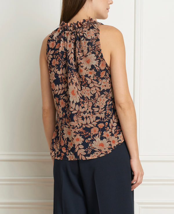 Top Sleeveless Printed Chiffon