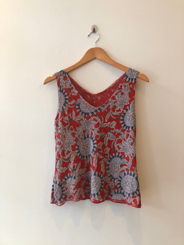 Sleeve Less Reversible Printed Top