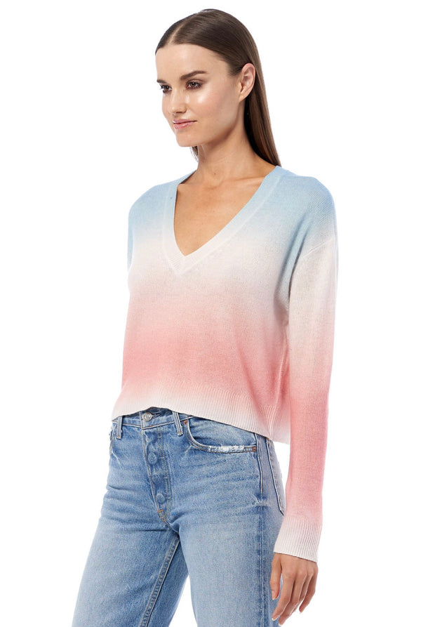 KORA  Short V neck Ambre Sweater