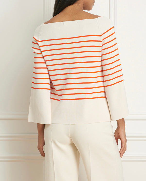 Boat Neck Stripe Sweater