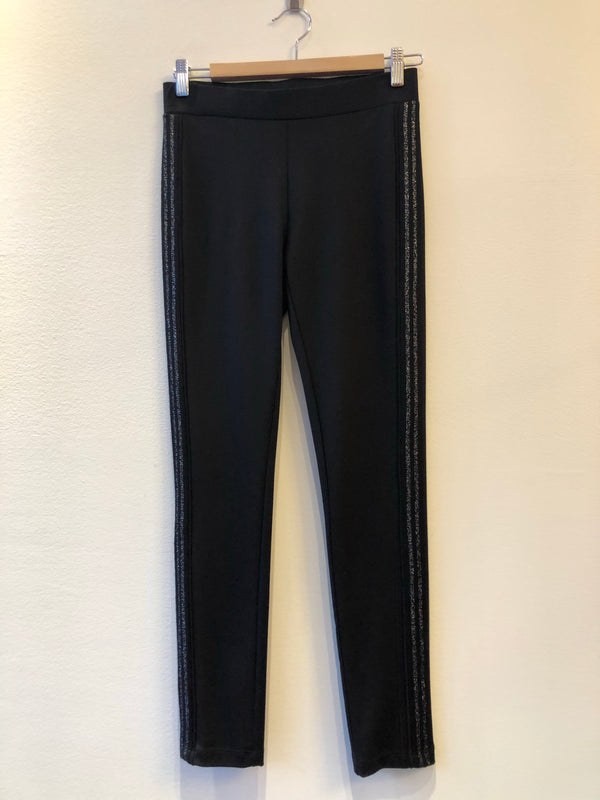 Legging With Side Silver Piping