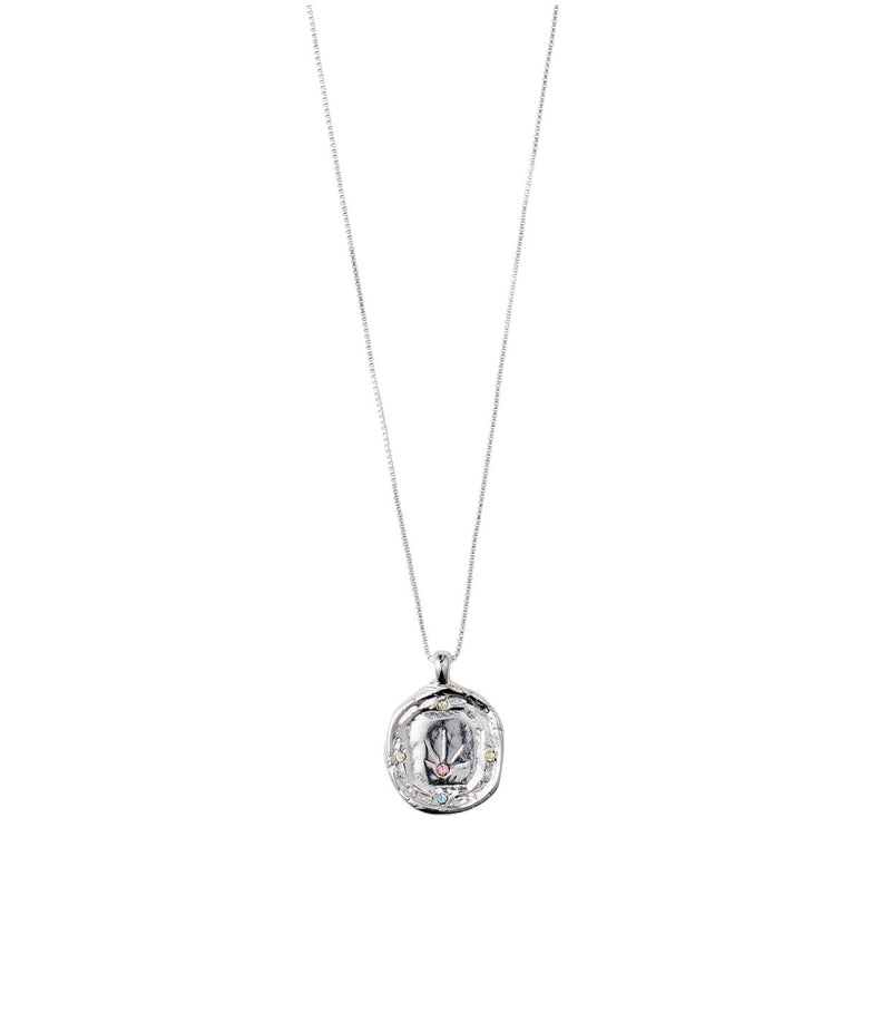 Elin Necklace Silver Plated