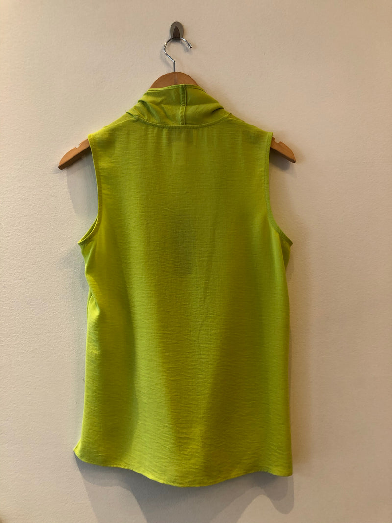 Sleeveless Front Drape Crossover Top