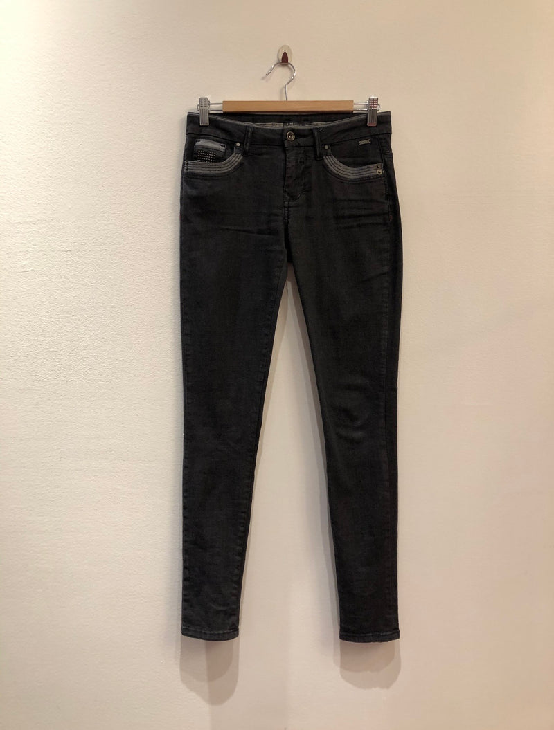 Jeans Black With Pocket Detail
