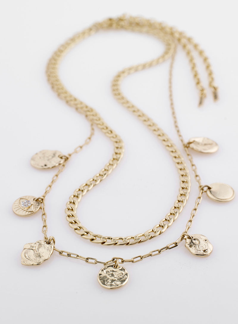 Poesy Gold 2 in 1 Necklace