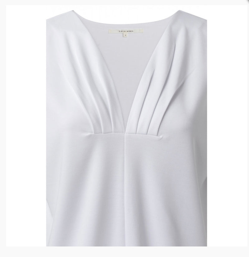 Top with Pleated Neckline