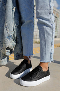 Lace-up Black Sport Shoes