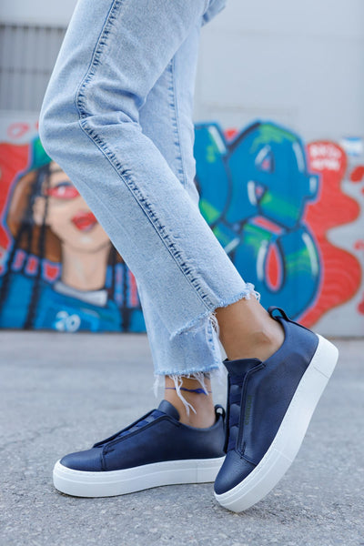 Navy Blue Sport Shoes