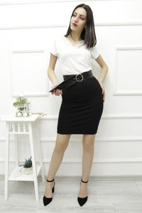 Women's Black Short Skirt