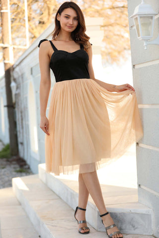 Tulle Salmon Short Dress