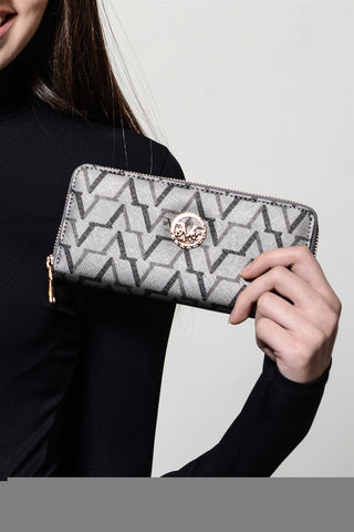 Patterned Silver Wallet