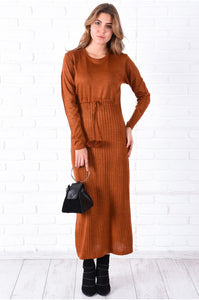 Bobble Ginger Tricot Dress