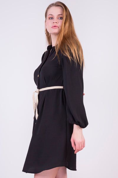 Belted Button Tunic