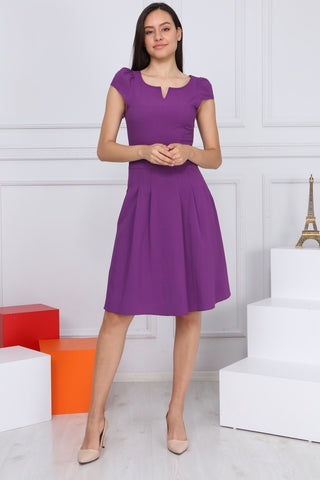 Pleated Fabric Short Dress