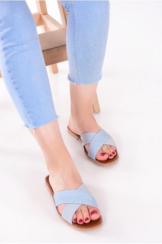 Baby Blue Slippers