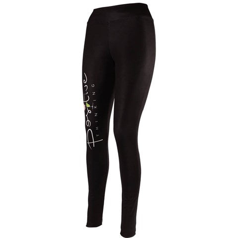 Text Pattern Black Tights by Millo