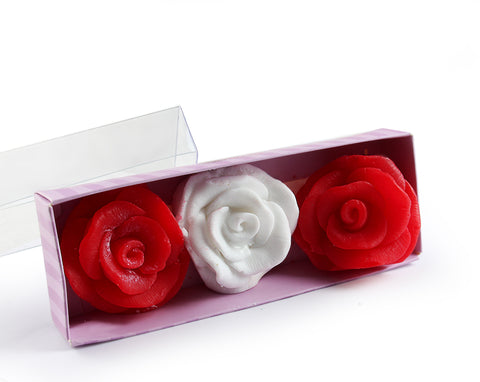 Rose Shape Scented Soap Gift Set