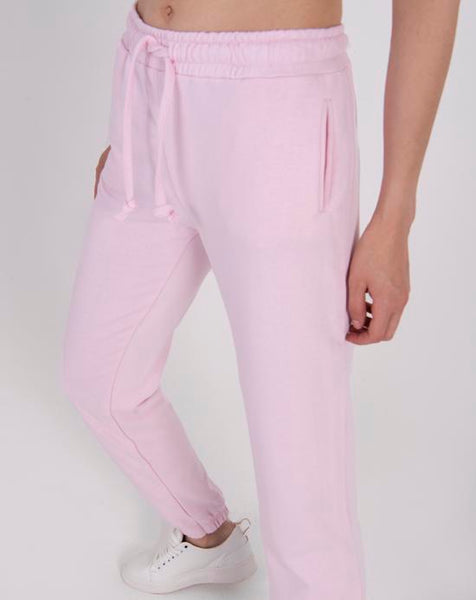 Elastic Legs Light Pink Sport Pants