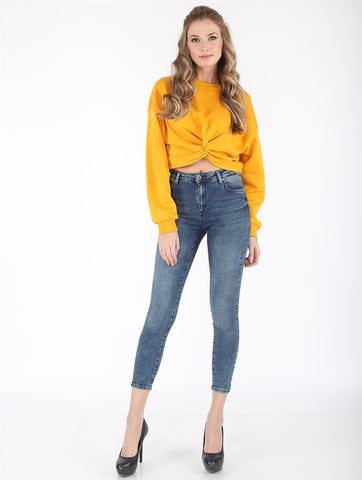 High Waist Ankle Jeans