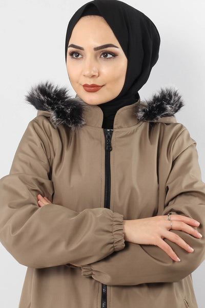 Women's Mink Rainproof Coat