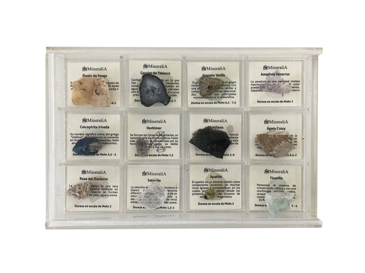 KIT 12 MINERALES MEXICANOS sku:31913
