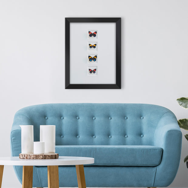 CUADRO HOME DECOR Mariposas CON 4 CALLICORE   sku:35624