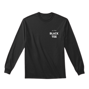 Plain Black Tee - Long Sleeve