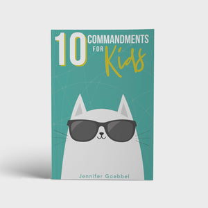 Open image in slideshow, 10 Commandments for Kids family Bible study book by author Jennifer Goebbel front cover