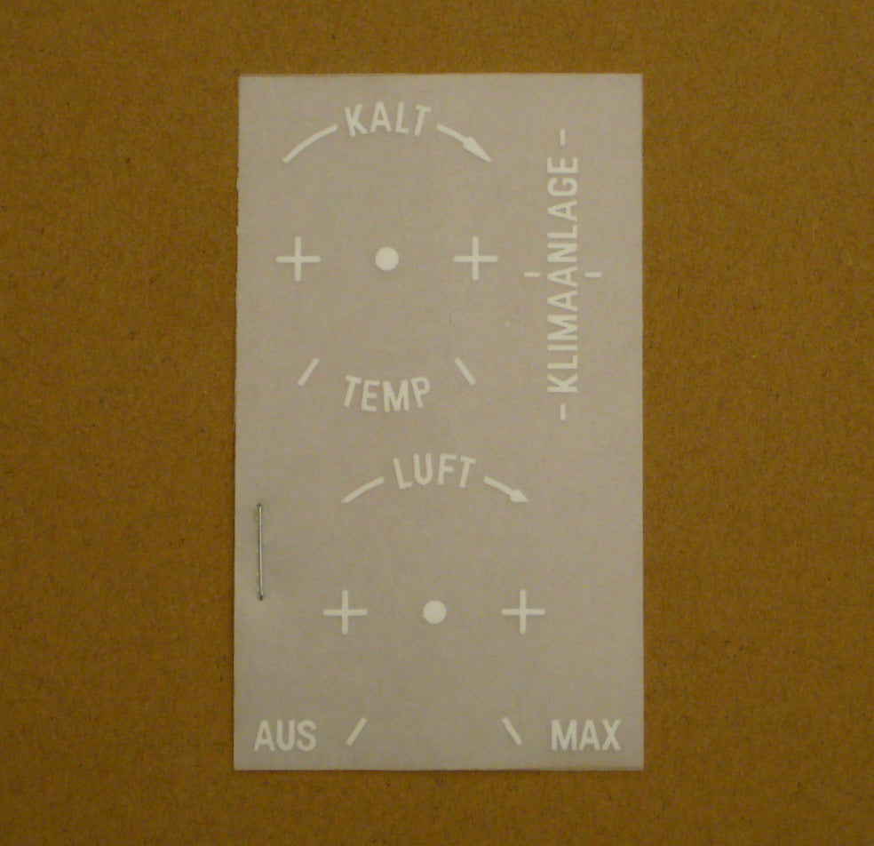 Klimaanlage AC Decal kit (German Lettering)
