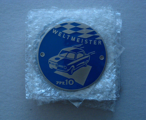Weltmeister Badge BMW 2002