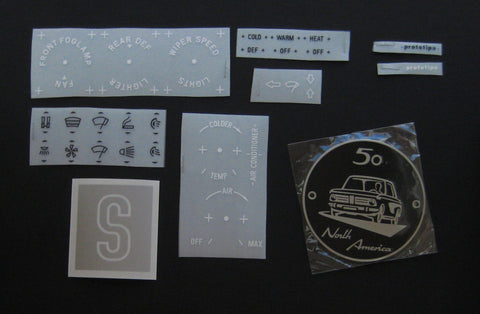 BMW 2002 Metal Badge + Decal Kit