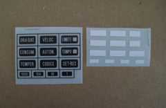 BMW e23/e24/e28/e30 OBC Button Decal Kit (US/DE/FR/ES/IT)