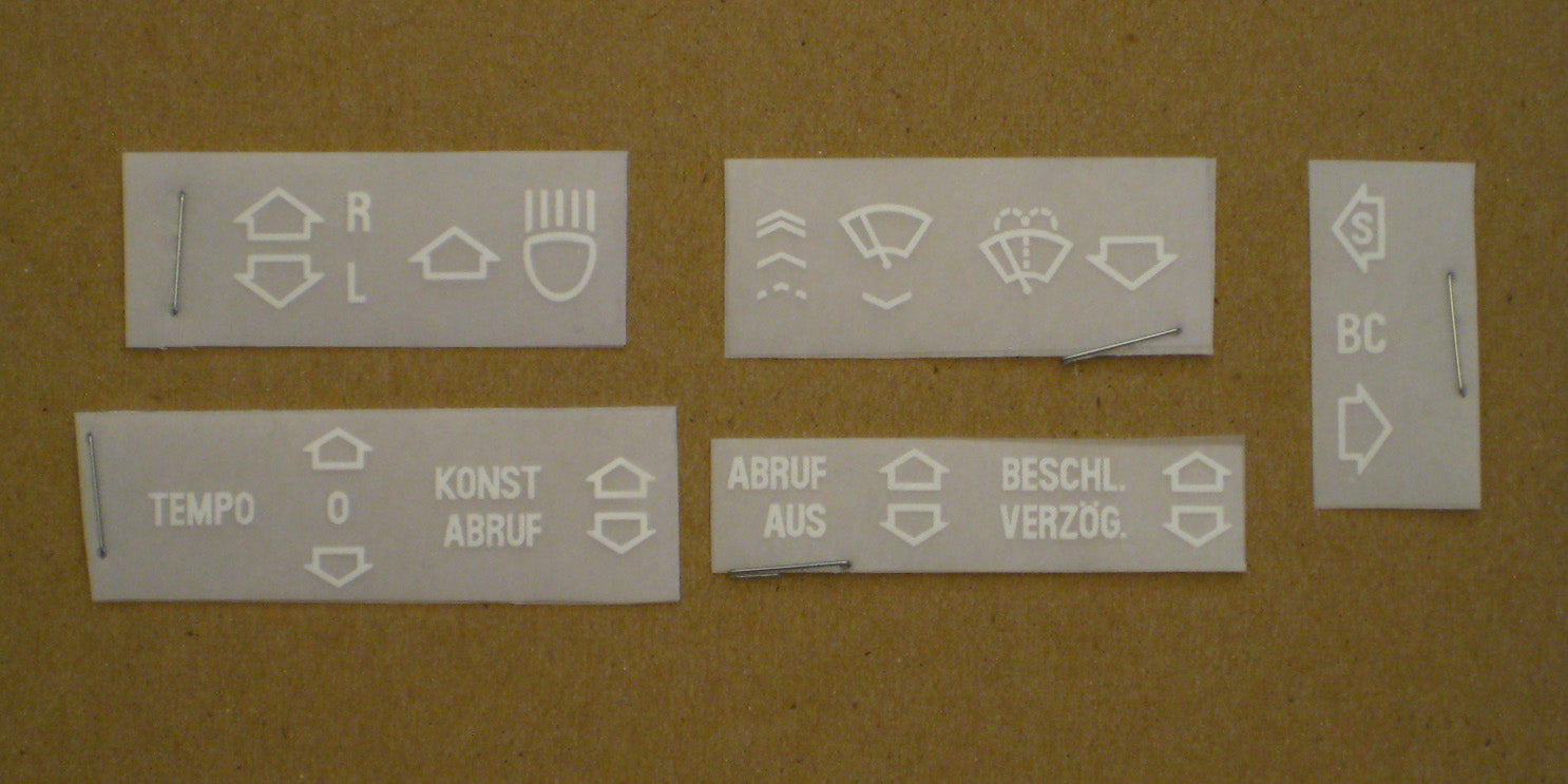 Instrument Decal Set BMW (Euro)