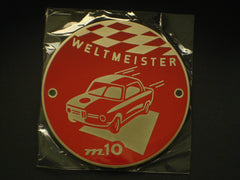Metal Badge 'm10' Weltmeister
