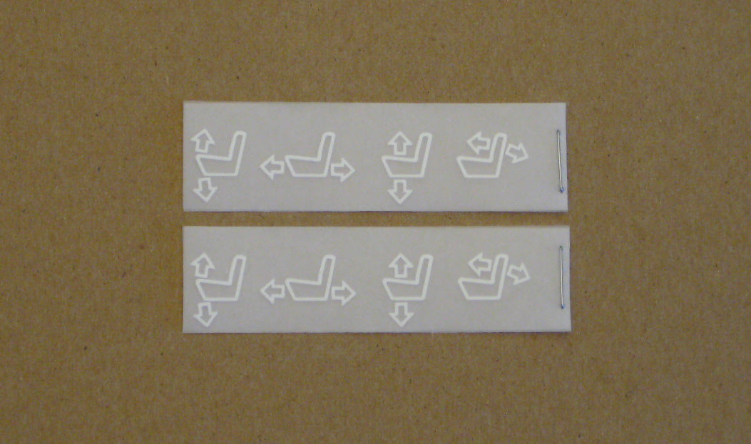 e36 Manual Seat Decal Set