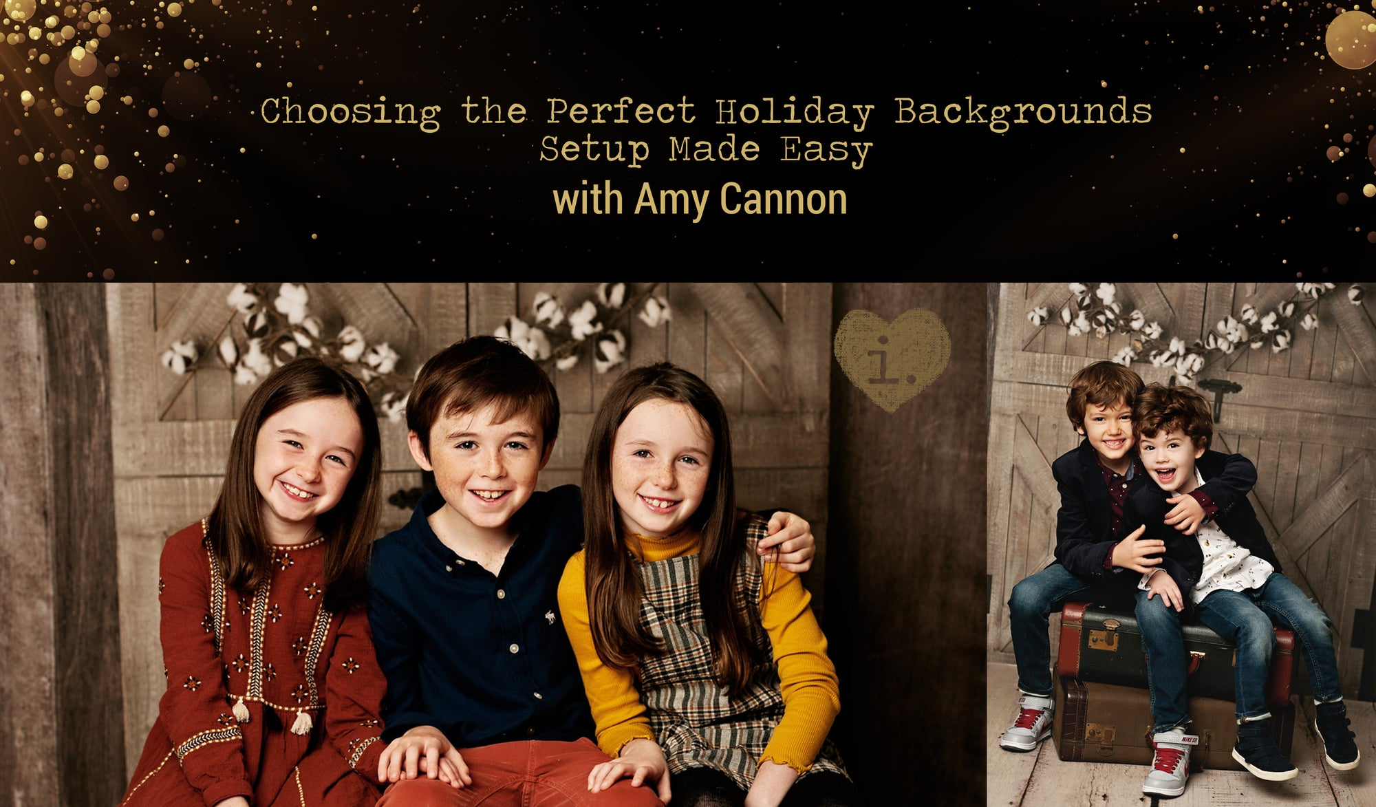 Choosing the Perfect Holiday Backgrounds | Setup Made Easy with Amy Cannon Photography
